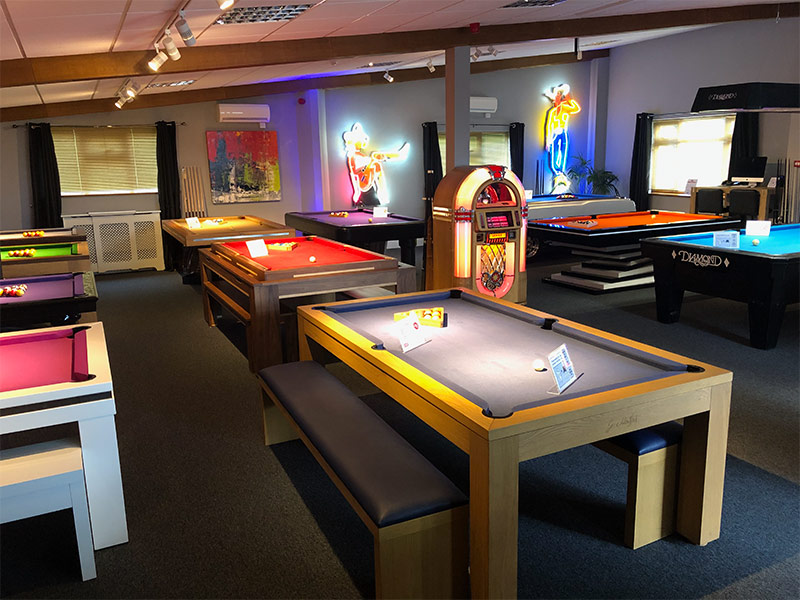 Pool Table Showroom - Idas Barn