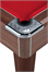 DPT Omega Pro Coin-Op English Pool Table in Dark Walnut - Corner (Red Cloth)