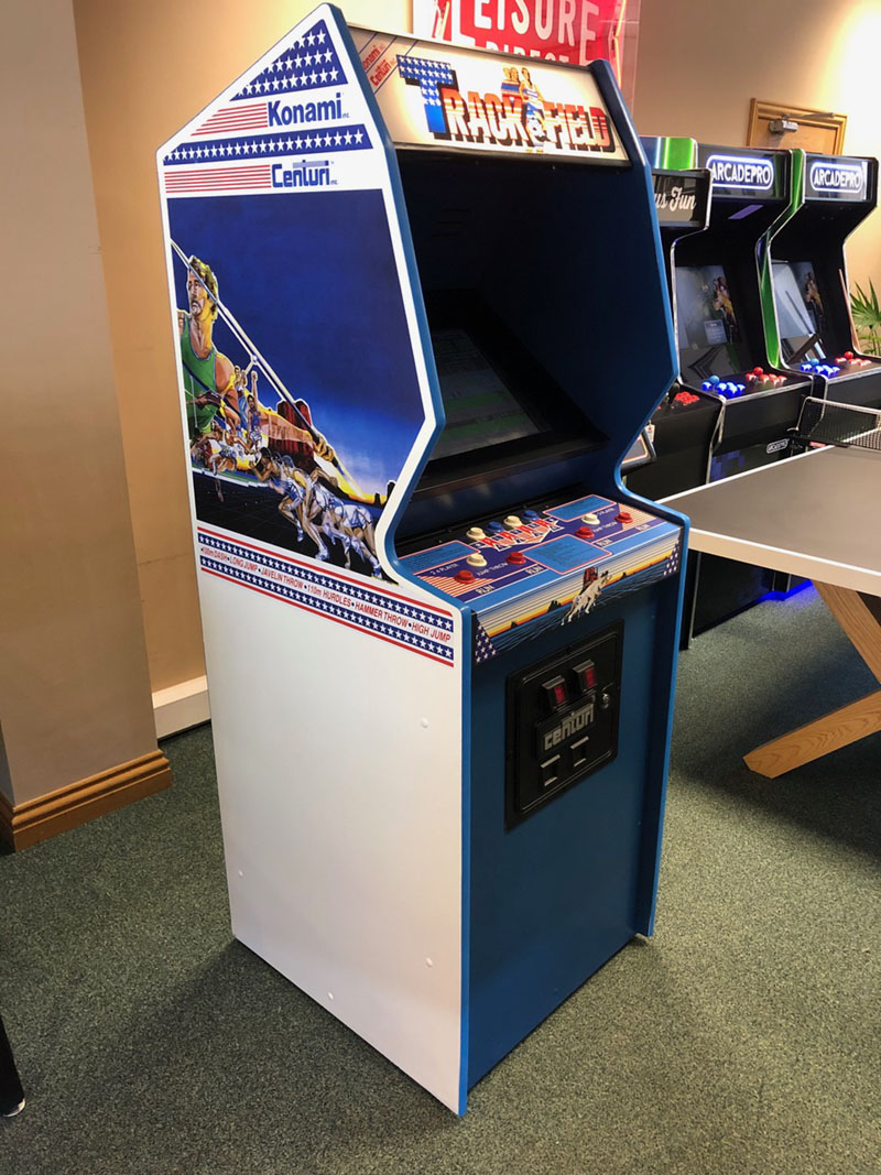 Track and Field Vintage Arcade Machine