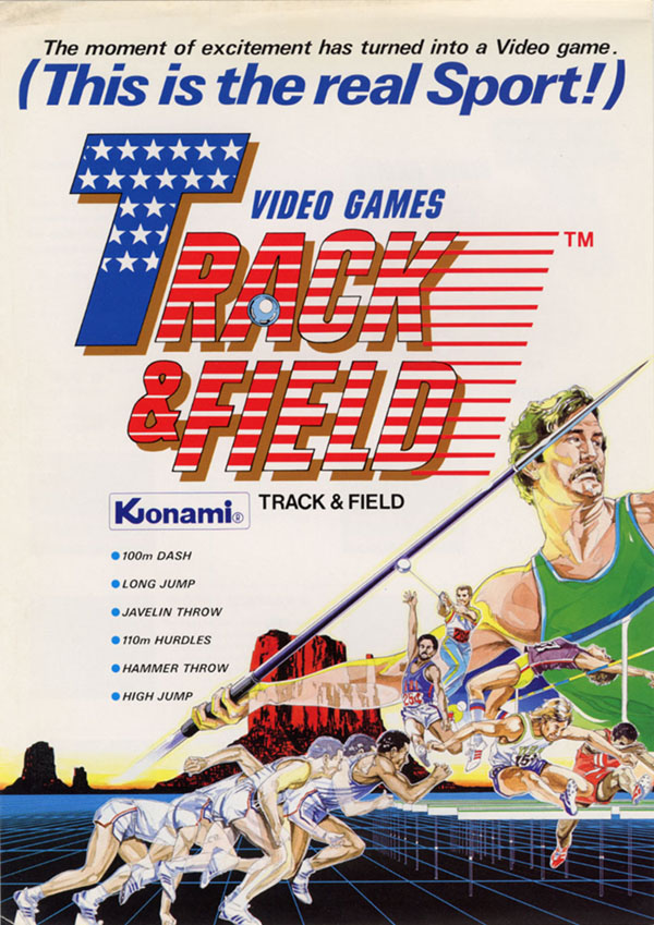 Track and Field Vintage Arcade Machine - Flyer