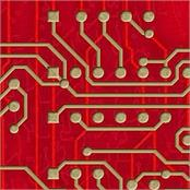 Artscape Decor Red Circuitboard Pool Table Cloth (800040)