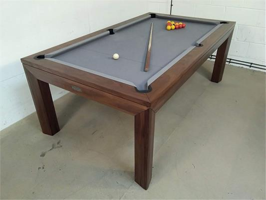 Signature Anderson Walnut Pool Dining Table - 7ft: Clearance