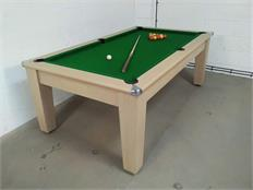 Imperial 7ft Pool Dining Table: Oak - Warehouse Clearance