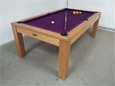 Signature Chester Solid Oak Purple Pool Dining Table - 7ft: Warehouse Clearance