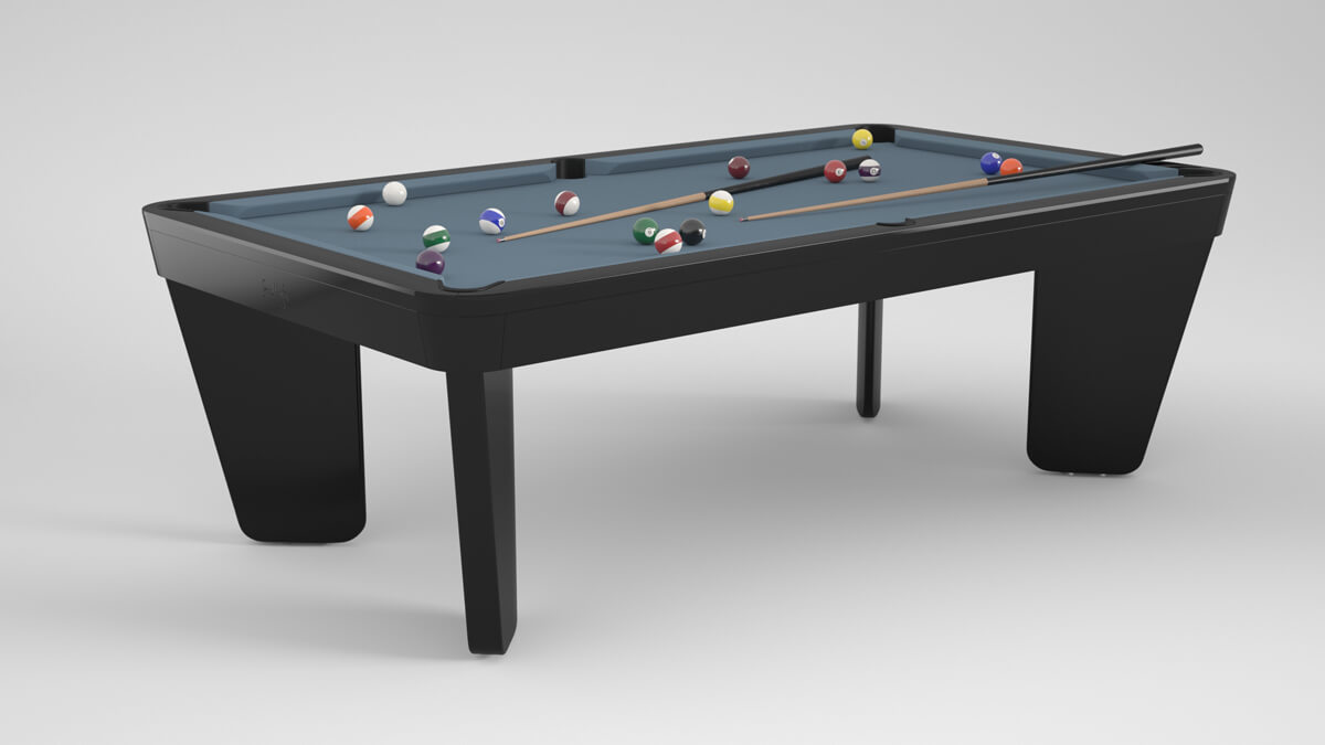 Billards Montfort Safran Pool Dining Table in Black