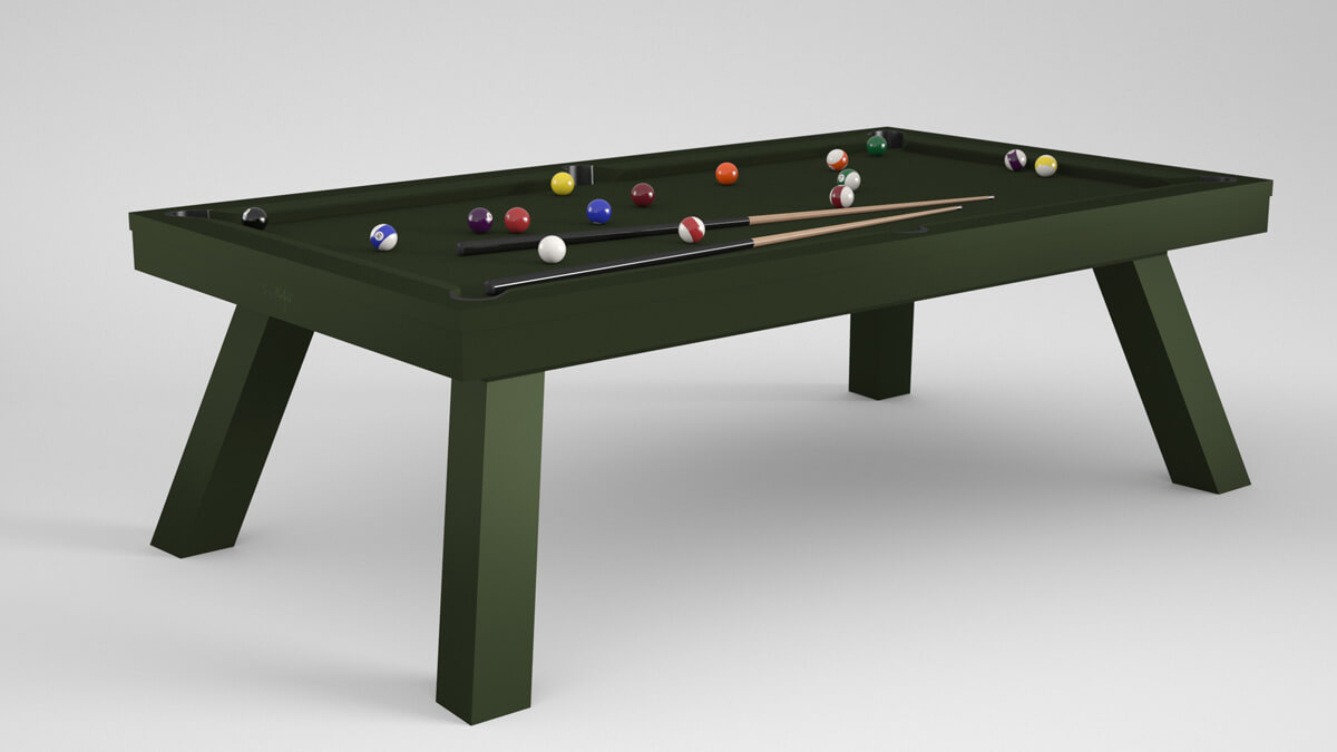 Billards Montfort Nagoya Pool Dining Table in Spruce Green