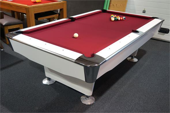 Signature Jefferson American Pool Table: White Finish - 7ft, 8ft