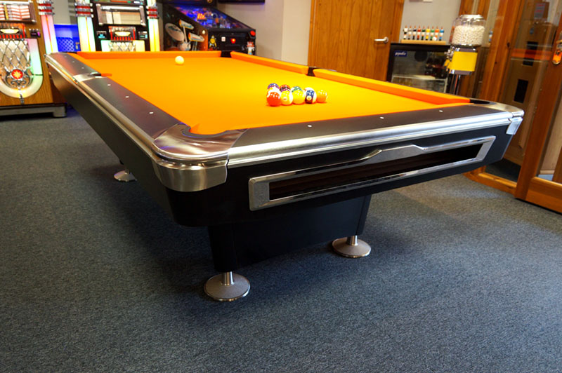 Signature Lincoln American Pool Table - Low Angle