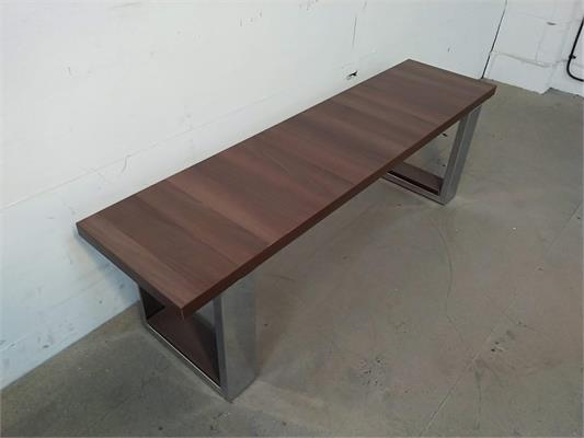 DPT 6ft Pool Table Bench - Walnut: Warehouse Clearance