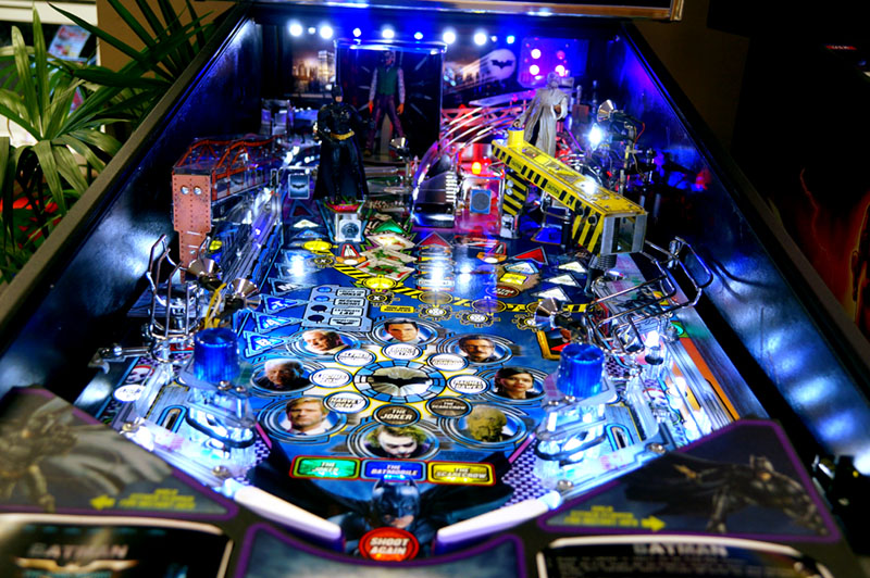 Batman STERN Pinball Machine - Playfield View