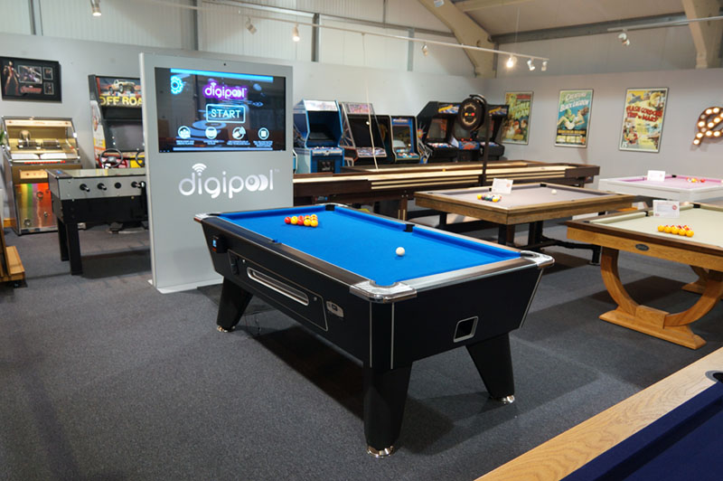 Signature Tournament Pro Edition English Pool Table - In Showroom