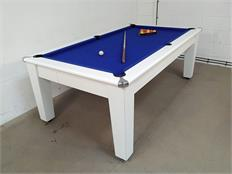 Imperial 7ft Pool Dining Table: White - Warehouse Clearance