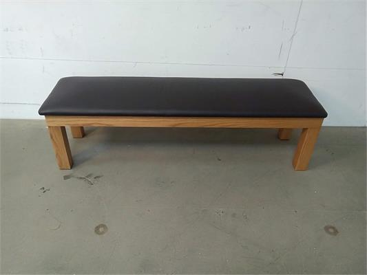 Signature Upholstered Pool Table Bench - Oak: Warehouse Clearance