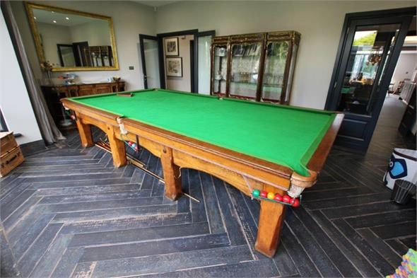 Riley 1960's Solid Oak Snooker Table - 12ft