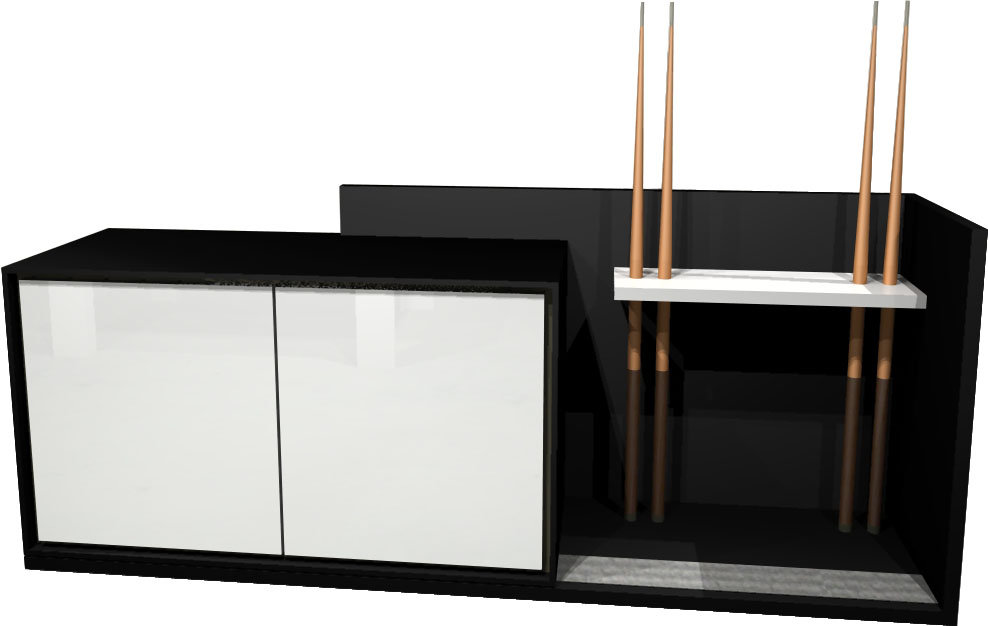 Aramith Fusion Sideboard 212cm in Black - White Gloss Lacquer Doors