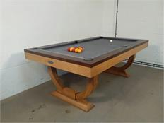 Signature Huntsman Oak and Walnut Pool Dining Table: Warehouse Clearance