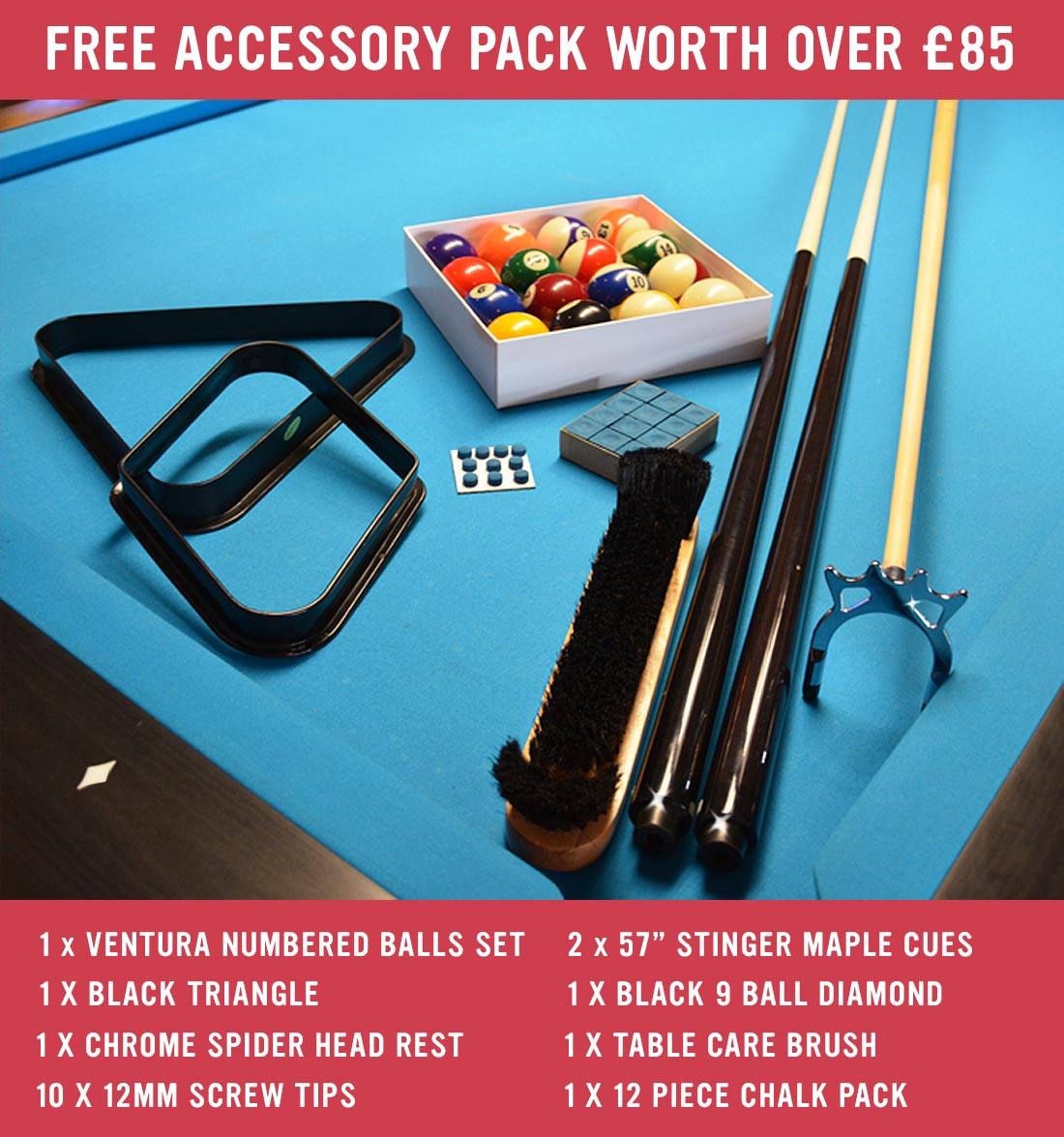 Buffalo Pool Table – Accessory Pack