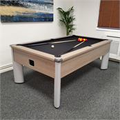 Signature Warren Grey Oak Pool Table - 7ft