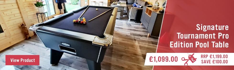 Signature Tournament Pro Edition Pool Table - Animated Panel