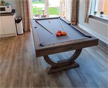 Signature Huntsman Silver Mist Pool Dining Table: 7ft