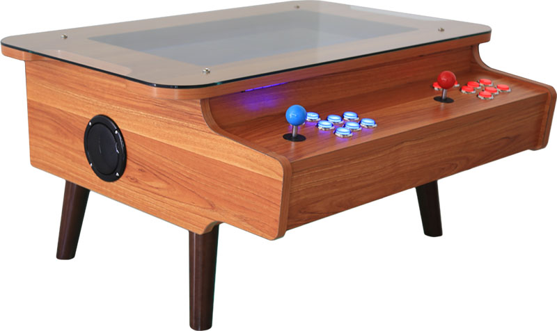 ArcadePro Triton Coffee Table Arcade Machine In Natural Wood
