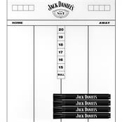 Jack Daniel's Flex Darts Scoreboard and Pens
