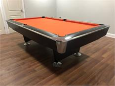 Signature Jefferson American Pool Table: Black finish - 7ft, 8ft
