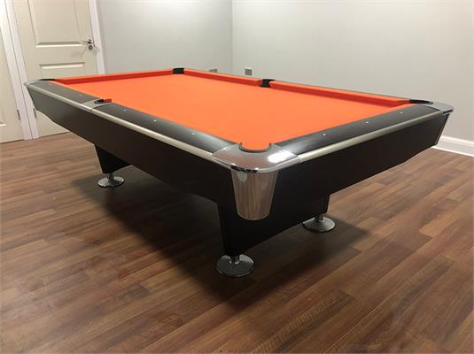 Signature Jefferson American Pool Table: Black Finish