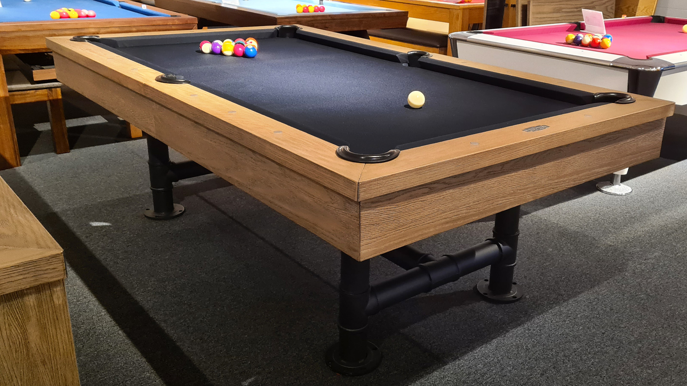 An image of Signature Marshall Silver Mist Pool Dining Table |