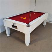 Emirates Pool Table: White - 7ft - Warehouse Clearance