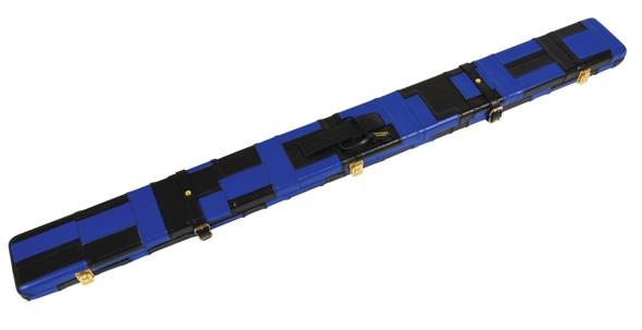 Black And Blue Patchwork Leather 3/4 Case