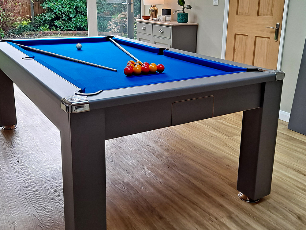 Signature Warwick Pool Dining Table - Onyx Grey - Ball Flap