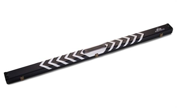 3/4 Jointed Black & White Arrow Clubman Cue Case