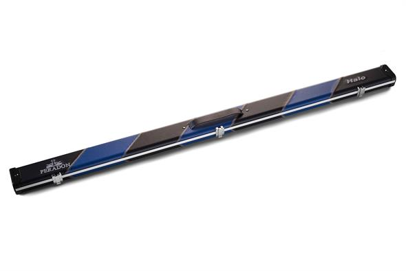 Black & Blue Stripe 3/4 Jointed Halo Cue Case