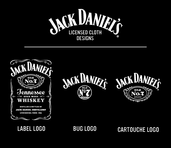 Jack Daniels Cloth Swatch Card
