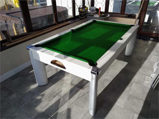 Fusion Pool Dining Table: White - 6ft, 7ft