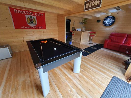 Fusion Pool Dining Table: Black - 6ft, 7ft