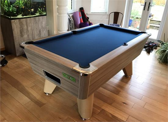 Supreme Winner Pool Table: Driftwood - 6ft, 7ft