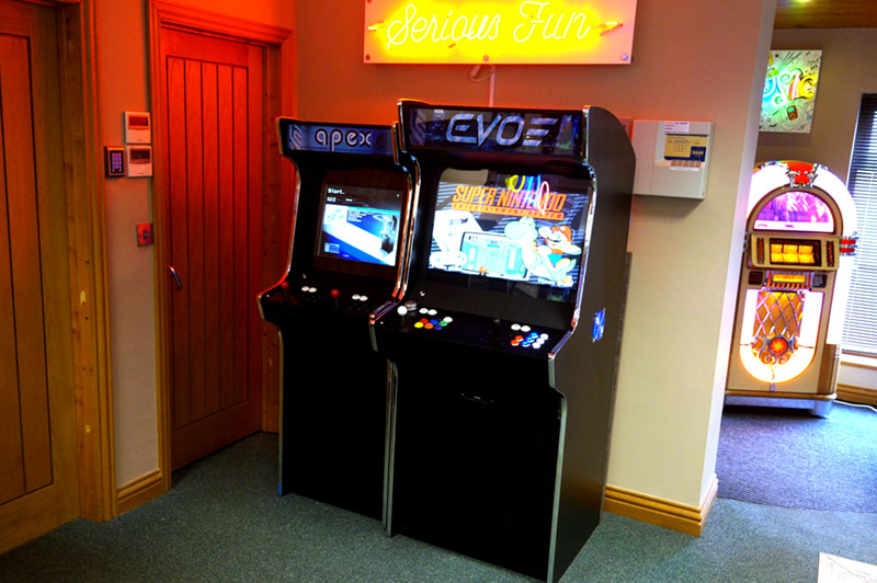 Bespoke Arcades Evo and Apex Upright Arcade Machines In Showroom