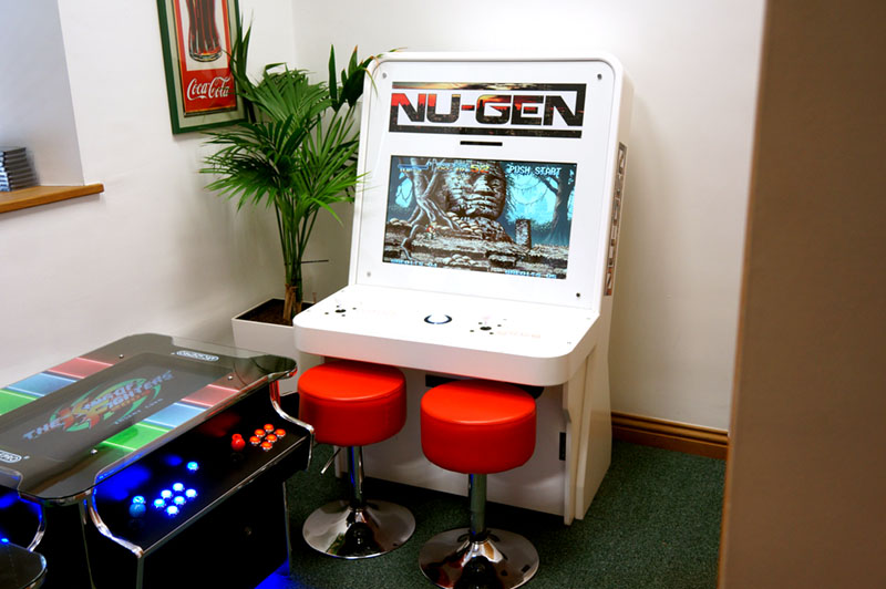 Bespoke Arcades Nu Gen Sit-Down Arcade Machine In Showroom