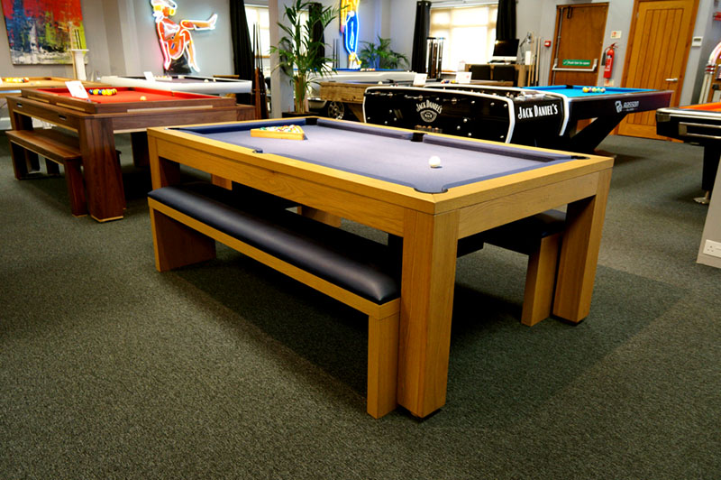 Billards Montfort Lewis Pool Table In Oak - In Showroom