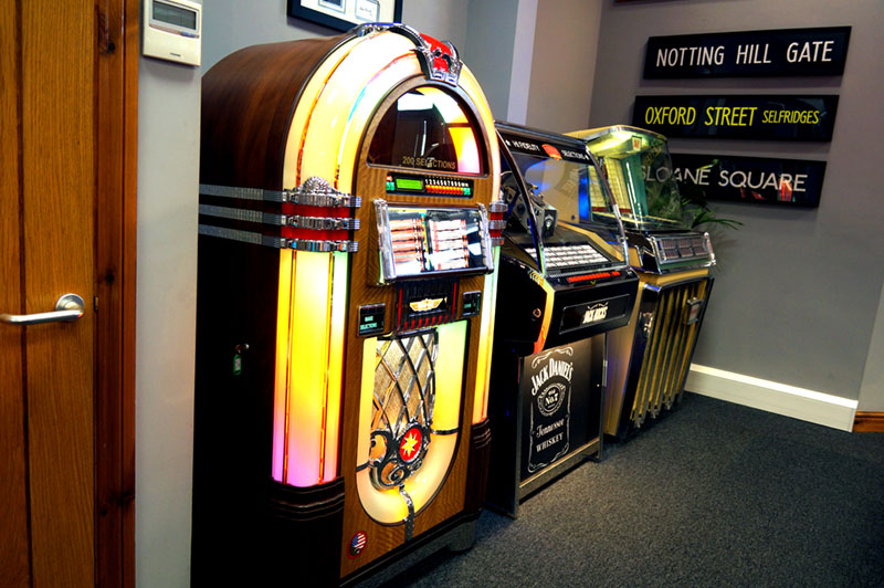 Rock-Ola Vinyl Bubbler Vinyl Jukebox - In Showroom