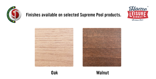 Supreme Prince Pool Table Cabinet Finish Sample Card
