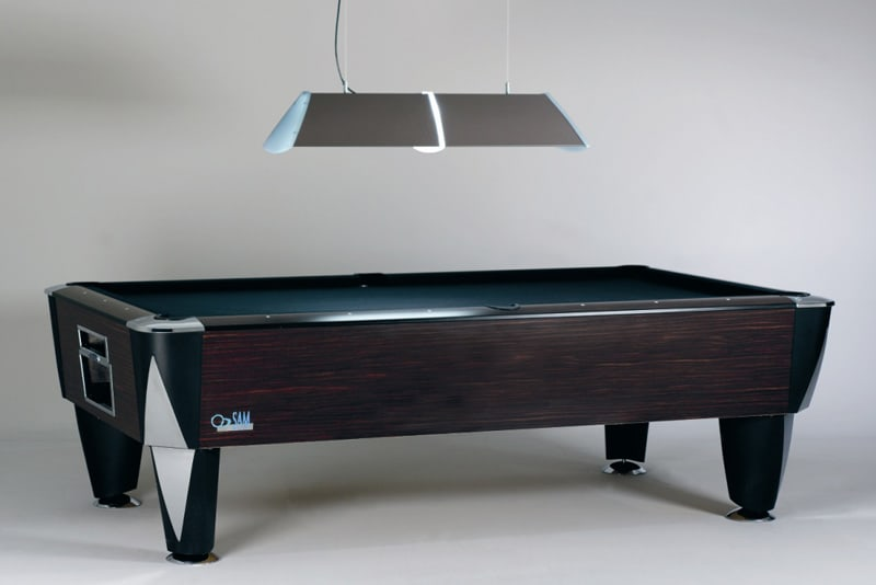 Magno Champion American Pool Table - Borneo finish with Mist Shade