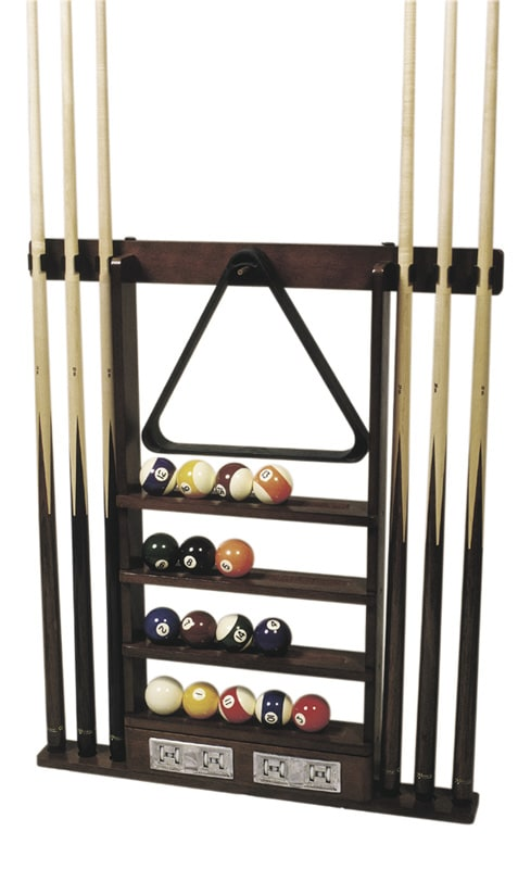 BLACK 6 Way CLIP Snooker Pool Cue Wall Mounted Rack Holds Up To 6 Cues