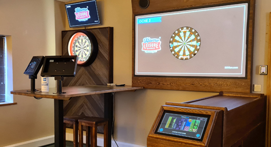 Interactive Darts in the Home Leisure Direct Showrooms