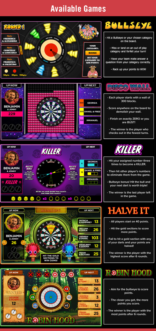 Augmented Reality Darts System Including Bullseye - Game Screenshots