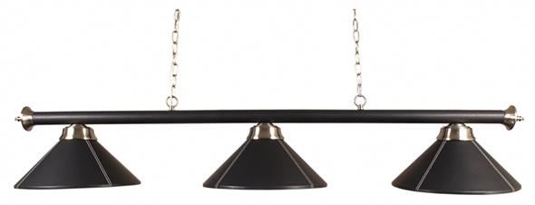 Pool Table Light - Black Leather Bar and Shades