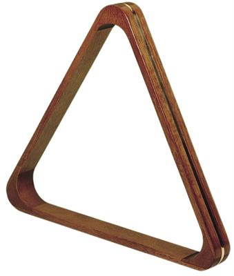 Dark Wood Triangle with Brass Lining - 57.2mm