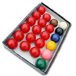 "An image of 2 1/16"" Standard Snooker Balls - 15 Red"